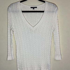 Gap Vneck Cable Knit Sweater